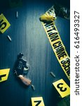 high contrast image of a crime... | Shutterstock . vector #616493327