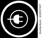charging sign black. vector. | Shutterstock .eps vector #616507457