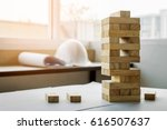 The Blocks Wood Tower Game Wit...