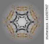 flat design of golden... | Shutterstock .eps vector #616507907