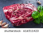 marbled beef  perfect angus... | Shutterstock . vector #616511423