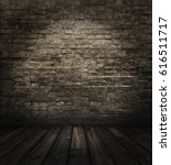 old room with brick wall ... | Shutterstock . vector #616511717
