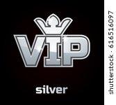 silver vip vector symbol on... | Shutterstock .eps vector #616516097