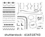 set of different decorative... | Shutterstock .eps vector #616518743