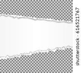 realistic vector torn paper... | Shutterstock .eps vector #616521767