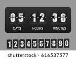 countdown timer. vector flip... | Shutterstock .eps vector #616537577