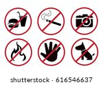prohibited sign vector...