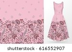 vertical seamless fashion... | Shutterstock .eps vector #616552907