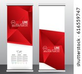 roll up banner stand template... | Shutterstock .eps vector #616559747