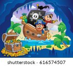 pirate boat theme 4   eps10... | Shutterstock .eps vector #616574507