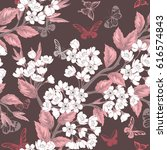 seamless cute pattern with... | Shutterstock .eps vector #616574843