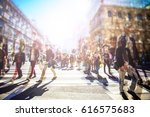 crowd of anonymous people... | Shutterstock . vector #616575683