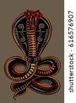 snake tattoo cobra | Shutterstock .eps vector #616576907