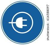 charging sign blue. vector. | Shutterstock .eps vector #616588097