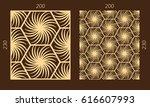 laser cutting set. woodcut...   Shutterstock .eps vector #616607993