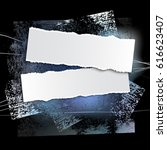 brushstroke and paper on a... | Shutterstock .eps vector #616623407