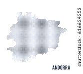 vector dotted map of andorra...   Shutterstock .eps vector #616624253