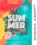 Vector Summer Party Poster...