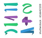 ribbons big set  isolated on... | Shutterstock . vector #616642103