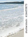 white sand beach against the...   Shutterstock . vector #616655873