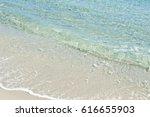 beautiful white beach. soft...   Shutterstock . vector #616655903