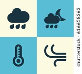 climate icons set. collection... | Shutterstock .eps vector #616658363