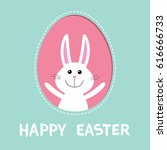 Happy Easter. Smiling Bunny...