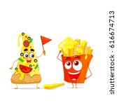 two character with cheese....   Shutterstock .eps vector #616674713
