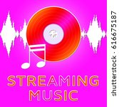 streaming music dvd... | Shutterstock . vector #616675187