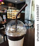 Small photo of Iced Americano Coffee in the cafe