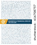 business and finance icon set... | Shutterstock .eps vector #616708757
