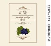 vector vintage frame label for... | Shutterstock .eps vector #616743683