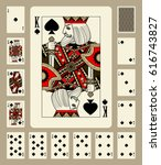 Playing Cards Of Spades Suit I...