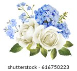 Wedding Flower Bouquet In Blue...
