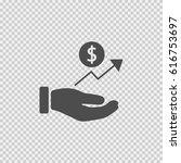 dollar in hand vector icon eps... | Shutterstock .eps vector #616753697