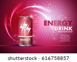 energy drink on sparkly and... | Shutterstock .eps vector #616758857