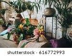 a bright wedding bouquet of... | Shutterstock . vector #616772993