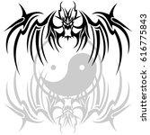 tribal dragon   Shutterstock .eps vector #616775843