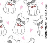 seamless pattern with black and ... | Shutterstock .eps vector #616815353