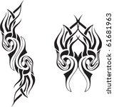 flaming skull tattoo | Shutterstock .eps vector #61681963