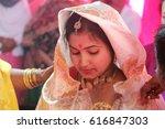 bride  traditional assamese... | Shutterstock . vector #616847303