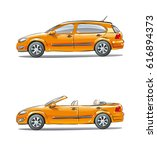 a set of vehicles  different...   Shutterstock .eps vector #616894373