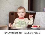 Portrait Of A Young Child Boy...