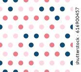 seamless polka dot pattern.... | Shutterstock .eps vector #616900457
