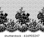 seamless black vector lace... | Shutterstock .eps vector #616903247