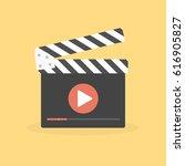 film production concept vector... | Shutterstock .eps vector #616905827