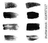 vector set of black paint... | Shutterstock .eps vector #616937117
