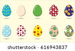set of easter eggs | Shutterstock .eps vector #616943837