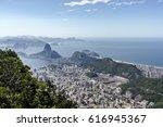 sugar loaf   pao de acucar....   Shutterstock . vector #616945367