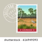louisiana postage stamp design. ... | Shutterstock .eps vector #616949393